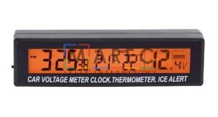 Termometr Samochodowy Zegarek Woltomierz 3w1 Auta
